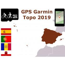carte topo 2019 Espagne Portugal Baléares Madère. microSD GPS Garmin edge oregon gpsmap etrex