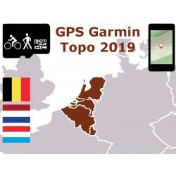 carte topo 2019 Belgique Pays-Bas Luxembourg. microSD GPS Garmin edge oregon gpsmap etrex