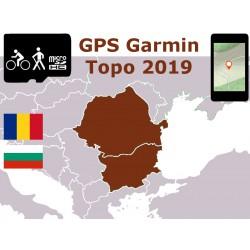 carte topo 2019 Roumanie Bulgarie. microSD GPS Garmin edge oregon gpsmap etrex