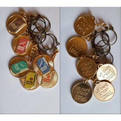 porte-clés lot 6 café Legal, paquets différents (pc)