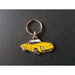 Porte-clés profil Alfa Romeo Spider, 1750 2000 Junior Veloce (jaune)