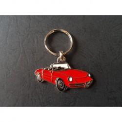 Porte-clés profil Alfa Romeo Spider, 1750 2000 Junior Veloce (rouge)