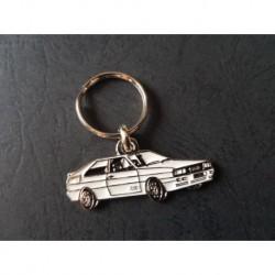 Porte-clés profil Audi Quattro, UR-Quattro (blanc)