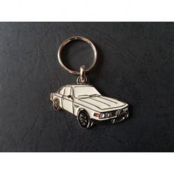 Porte-clés profil BMW E9 coupé, 2800 3.0 CS CSA CSi (blanc)