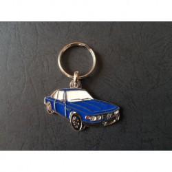 Porte-clés profil BMW E9 coupé, 2800 3.0 CS CSA CSi (bleu)