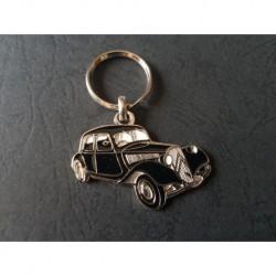 Porte-clés profil Citroen Traction 11 (noir)