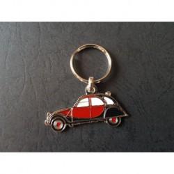 Porte-clés profil Citroen 2cv Charleston, 2cv6