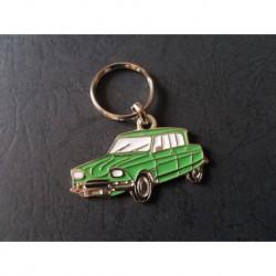 Porte-clés profil Citroen Ami 6 (vert)