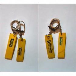 porte-clés lot 2 plaquettes insecticides Vapona, Butagaz et Shelltox (pc)