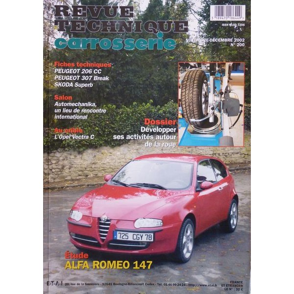 rtc revue technique carrosserie alfa romeo 147. Black Bedroom Furniture Sets. Home Design Ideas