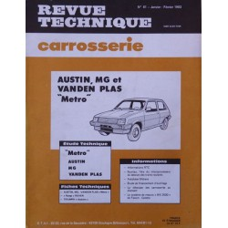 Technique carrosserie Austin, MG, Vanden Plas Metro
