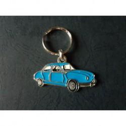 Porte-clés profil Panhard Dyna Z (bleu)