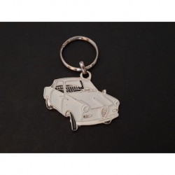 Porte-clés profil Goggomobil TS, TS250 TS300 TS400 (blanc)