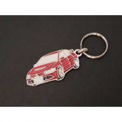 Porte-clés profil Mitsubishi Lancer Evolution, Evo VII VIII IX (rouge)