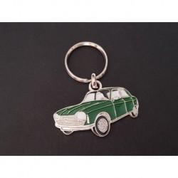 Porte-clés profil Peugeot 204 berline (vert)