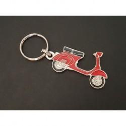 Porte-clés profil Vespa 125 150, Sprint VBB GL VLB (rouge)