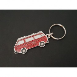 Porte-clés profil Volkswagen Transporter T3 Westfalia, Combi (rouge)