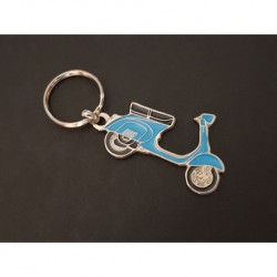 Porte-clés profil Vespa 125 150, Sprint VBB GL VLB (bleu)