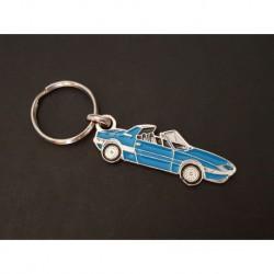 Porte-clés profil Fiat X1/9 (bleu)