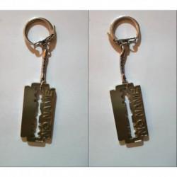 porte-clés No Name, lame de rasoir (pc)