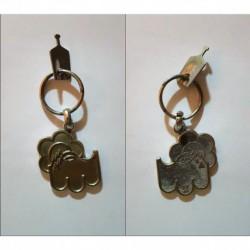 porte-clés fleur soleil montagne. métal. a determiner (pc)