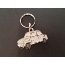Porte-clés profil Glas Goggomobil T 250 300 400, T300 T400 (blanc)