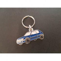 Porte-clés profil Peugeot 205, XT XS XR GTX XL XE SR (bleu)
