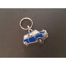 Porte-clés profil Mini Austin Morris Cooper 850 (bleu)