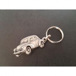 porte-clés métal relief Renault 4cv