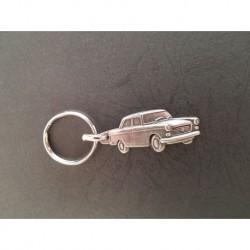 porte-clés métal relief Peugeot 404 berline