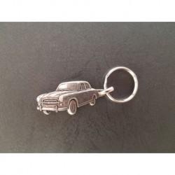 porte-clés métal relief Peugeot 403 berline