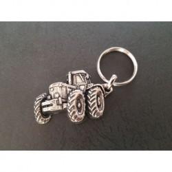 porte-clés métal relief tracteur John Deere