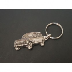 porte-clés métal relief Renault 4, R4 4L TL GTL