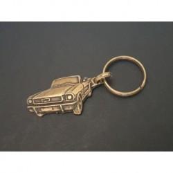 porte-clés métal relief Mustang cabriolet