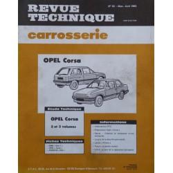 Technique carrosserie Opel Corsa A