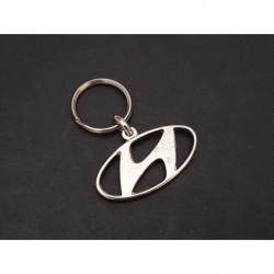Porte-clés métal Hyundai i10, i20, i30, Atos, Accent, Tuscon, SantaFe, Eon