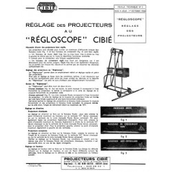 Notice Régloscope Cibié