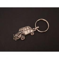 porte-clés métal relief Citroen 2cv, 2cv4 2cv6 Special Charleston AZ