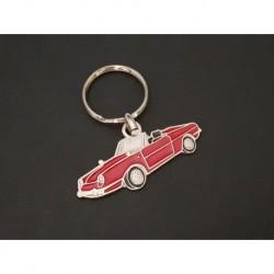 porte-clés profil Fiat et Seat 850 Spider (rouge)