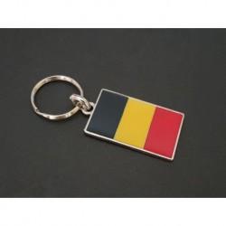 porte-clés drapeau émaillé Belgique