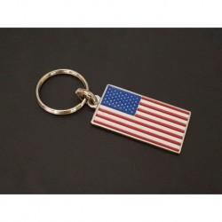 porte-clés drapeau émaillé USA, États-Unis, Américain