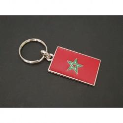 porte-clés drapeau émaillé Maroc