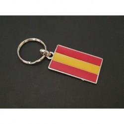 porte-clés drapeau civil émaillé Espagne