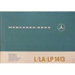 Mercedes L, LA et LP 1413, notice d'entretien