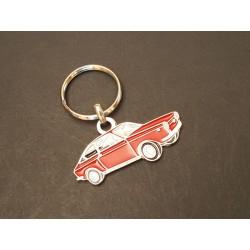 porte-clés profil Fiat et Seat 850 coupé (rouge)