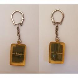 porte-clés tuile verte incluse, panne Bisch, Strasbourg (pc)