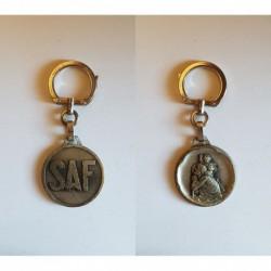 porte-clés SAF, saint christopge, Augis rond, soudure autogene francaise (pc)