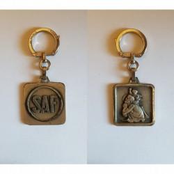 porte-clés SAF, saint christopge, Augis carré, soudure autogene francaise (pc)