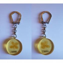 porte-clés trèfle à quatre feuille véritable inclus, Eledon (pc)