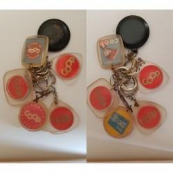 porte-clés Coop magasins, lot 6 différents (pc)